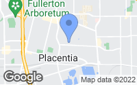 Map of Placentia, CA