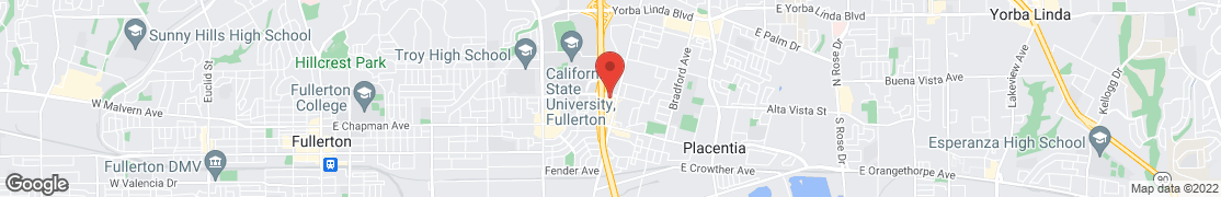 Map of 2920 E Nutwood Ave in Fullerton