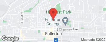 Map of 815 N Harbor Blvd in Fullerton