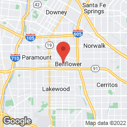 Bellflower Plumbling and Heating on the map