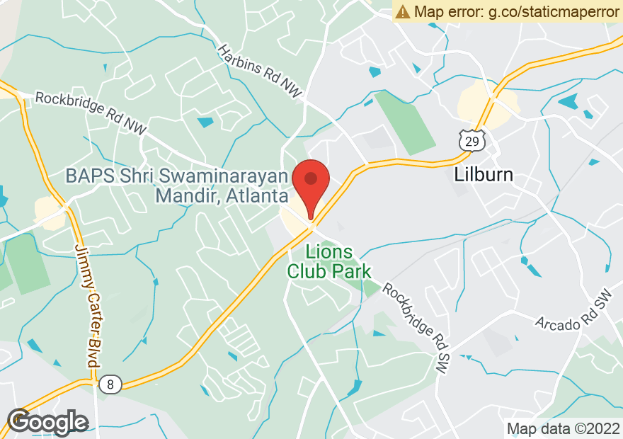 Google Map of 5455 LAWRENCEVILLE HWY NW