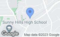 Map of Fullerton, CA