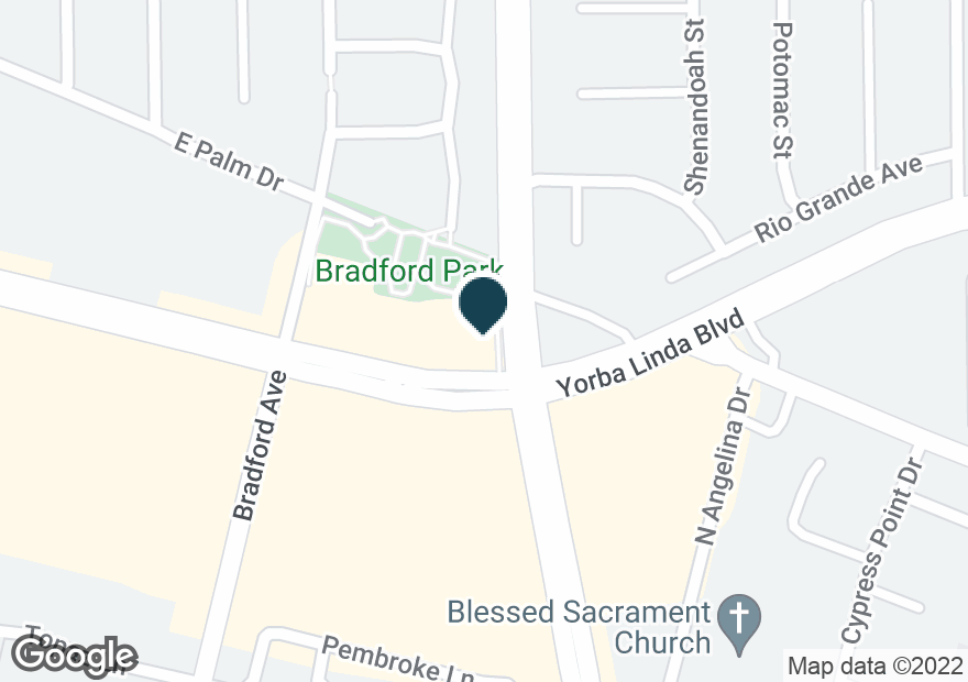 Google Map of191 E YORBA LINDA BLVD