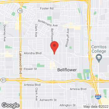 Map of Rite Aid at 15924 Bellflower Boulevard, Bellflower, CA 90706