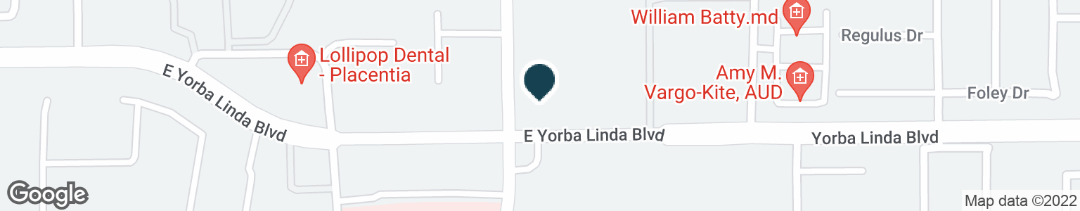 Google Map of1201 E YORBA LINDA BLVD