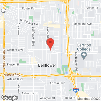 Map of Taco Bell at 10300 Alondra Blvd, Bellflower, CA 90706