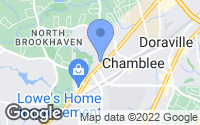 Map of Chamblee, GA