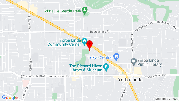 Google Map of 4601 Case Loma Avenue, Yorba Linda, CA 92886
