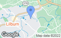 Map of Lilburn, GA