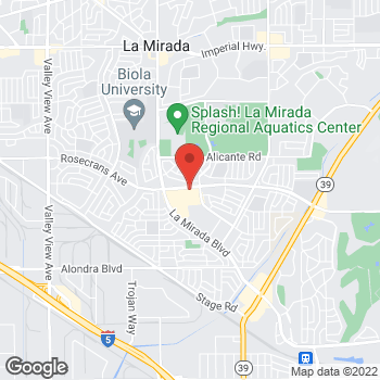 Map of Panera Bread at 15224 Rosecrans Avenue, LaMirada, CA 90638