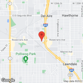 Map of Bed Bath & Beyond at 14351 Hindry Avenue, Hawthorne, CA 90250