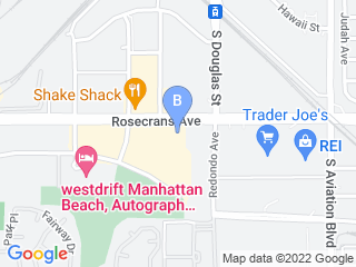 Map of Melissas Mutt Hutt Dog Boarding options in Manhattan Beach | Boarding
