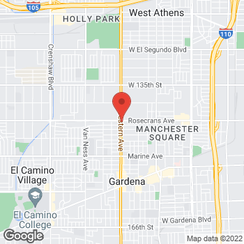 Map of Taco Bell at 14308 So Western Ave, Gardena, CA 90249