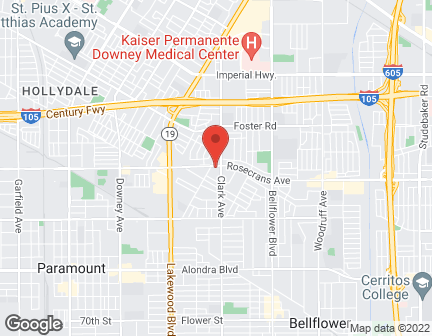Map of 9312 Rosecrans in Bellflower