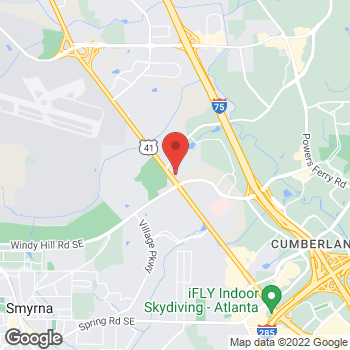 Map of Guitar Center Lessons at 1901 Terrell Mill Rd SE, Marietta, GA 30067