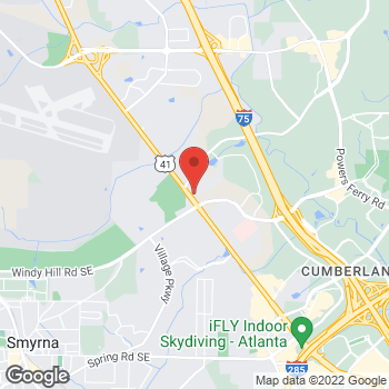 Map of Guitar Center at 1901 Terrell Mill Rd SE, Marietta, GA 30067