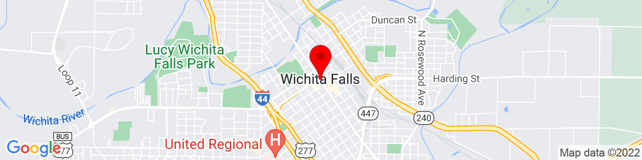 Google Map of 33.91361111111111, -98.49333333333334