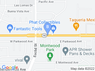 Map of Sunny Hills Veterinary Hospital Dog Boarding options in La Habra | Boarding
