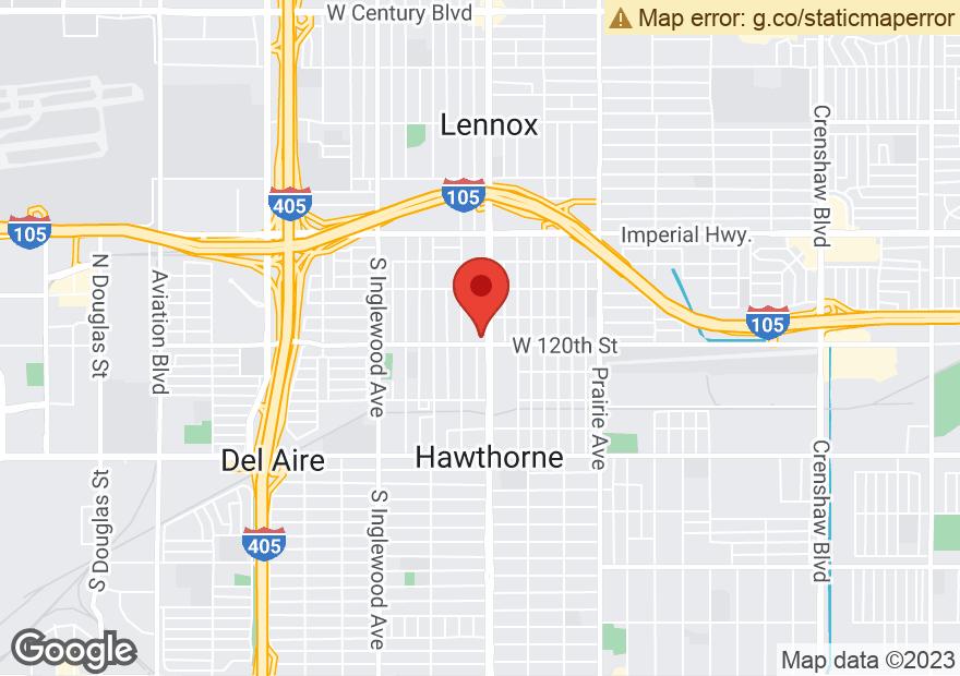 Google Map of 11983 HAWTHORNE BLVD