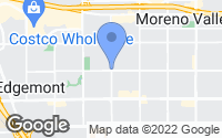 Map of Moreno Valley, CA