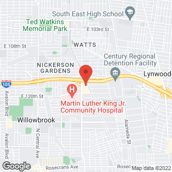 Map of Rite Aid at 11750 Wilmington Avenue, Los Angeles, CA 90059