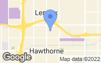 Map of Hawthorne, CA