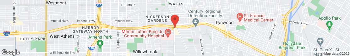 Map of 11700 Wilmington Ave in Los Angeles