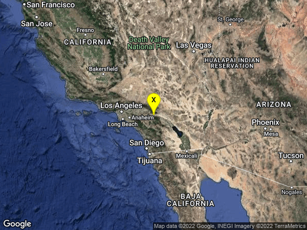 earthquake 1km ENE of Banning, CA