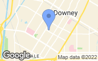 Map of Downey, CA