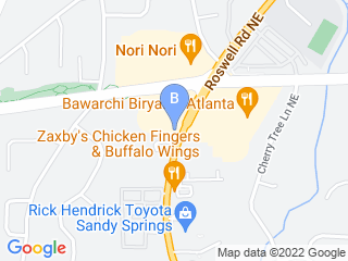 Map of Comprehensive Pet Therapy Inc Dog Boarding options in Sandy Springs | Boarding