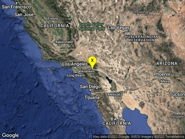 earthquake 3km WNW of Beaumont, CA