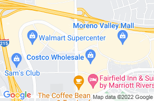 Moreno Valley Mattress Store Location Map