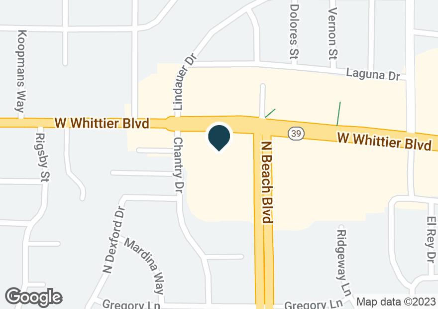 Google Map of2000 W WHITTIER BLVD