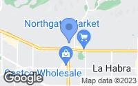Map of La Habra, CA