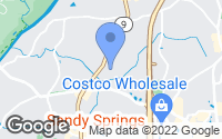 Map of Sandy Springs, GA