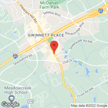 Map of Wendy's at 1615 Pleasant Hill Road, Duluth, GA 30096