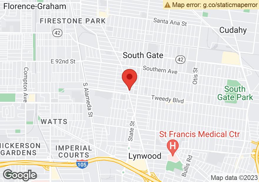 Google Map of 9830 LONG BEACH BLVD