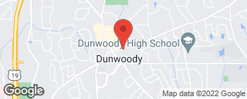 Map of 1705 Mount Vernon Rd in Dunwoody