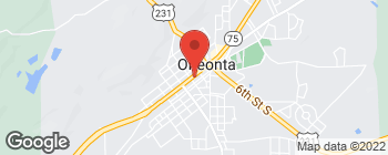 Map of 303 2nd Ave E in Oneonta