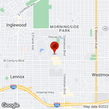 Map of Staples® Print & Marketing Services at 3451 West Century Blvd, Inglewood, CA 90303
