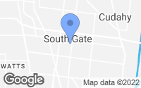 Map of South Gate, CA