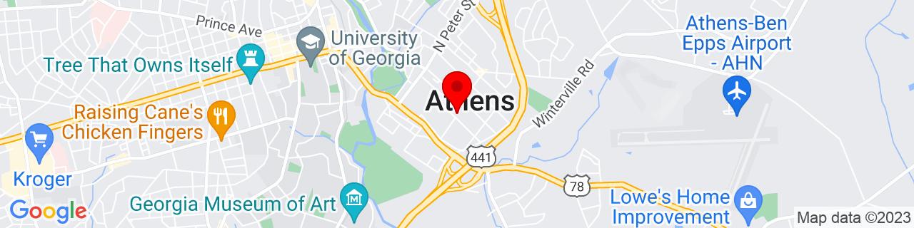 Google Map of 33.9519347, -83.357567