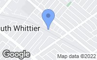 Map of Whittier, CA