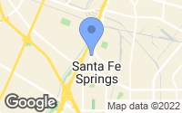 Map of Santa Fe Springs, CA