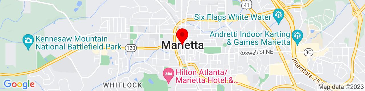 Google Map of 33.9525, -84.55