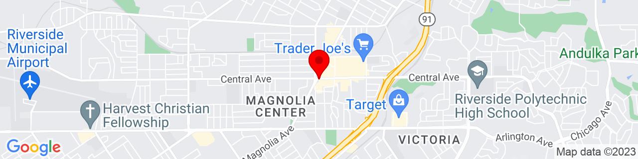Google Map of 33.9533487, -117.3961564