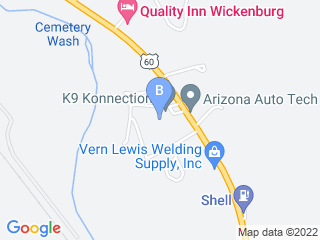 Map of K 9 Korral Dog Boarding options in Wickenburg | Boarding