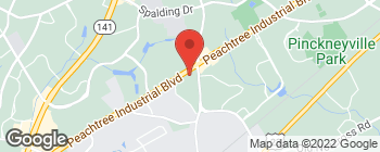 Map of 5390 Peachtree Industrial Blvd in Norcross