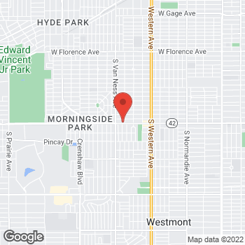 Map of Check `n Go Manchester Avenue at 2107 West Manchester Avenue, Los Angeles, CA 90047