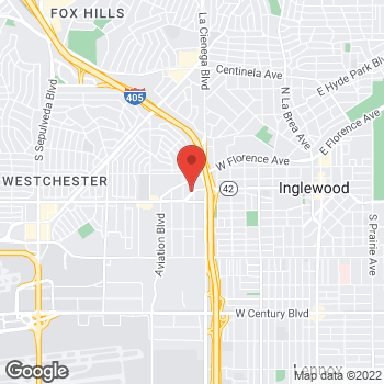Map of Arby's at 913 W Manchester Blvd, Inglewood, CA 90301